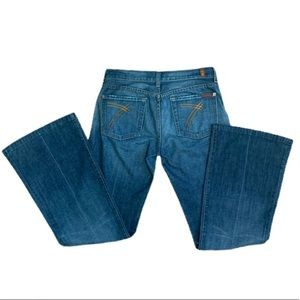 7 for All Mankind Dojo Flair Jeans Size 28